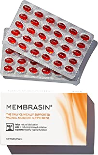 Membrasin Feminine Moisturizer Supplement for Dryness - 100% Natural Daily Take Orally Clinically Proven to Help Restore M...