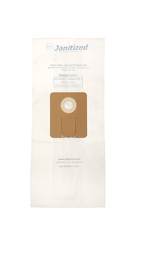 Janitized JAN-MCENV7-2(10)-CS Premium Replacement Commercial Vacuum Bag for Master Craft Enviromaster 7, OEM# 411973, 1