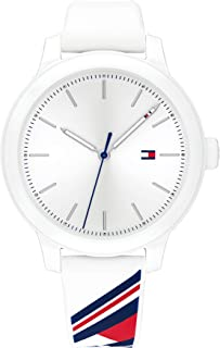 Women's Quartz Watch with Silicone Strap, White,Red and Blue, 16 (Model: 1782231)