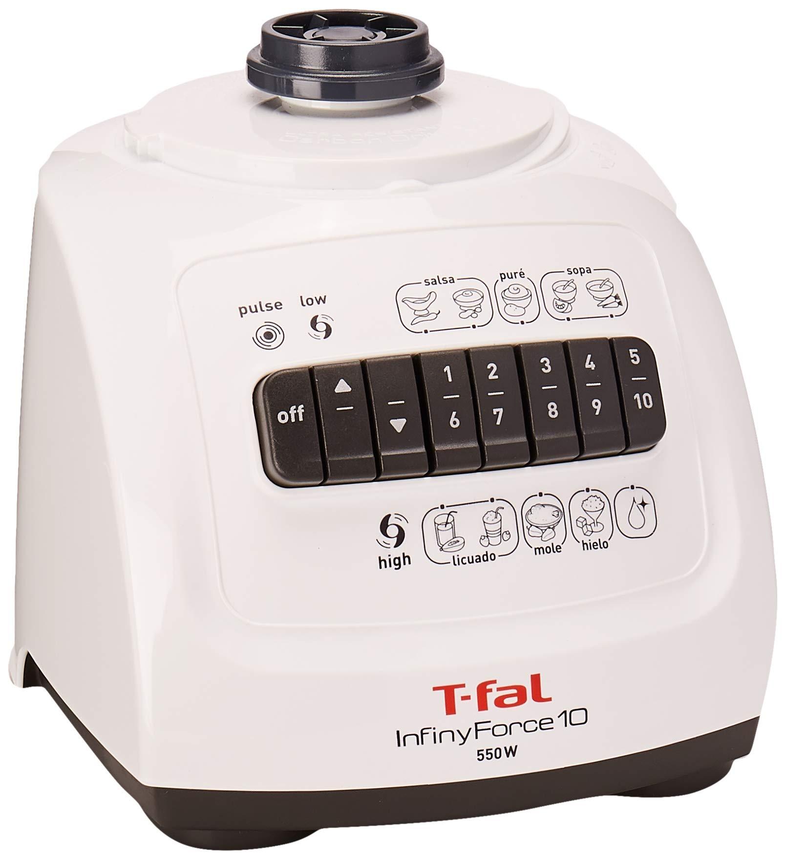 T-Fal InfinyForce 10 Batidora de vaso 1.25L 550W Blanco ...