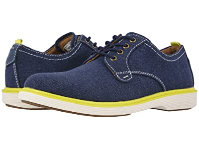 Florsheim Kids Supacush Canvas Ox Jr. (Toddler/Little Kid/Big Kid) (Navy Canvas/White Sole) Boy