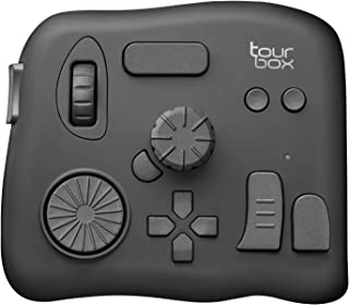Tourbox Photo and Video Editing Console, Advanced Controller with Customized Creative inputs to Simplify and optimize The Adobe Photoshop, Adobe Lightroom, SAI, Premiere, and More (Black)