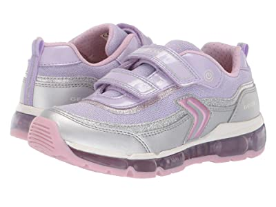 Geox Kids Android Girl 21 (Little Kid/Big Kid) (Silver/Lilac) Girl