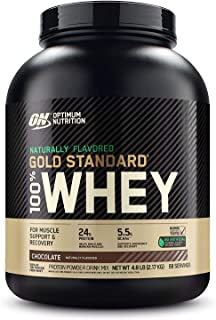 Optimum Nutrition Gold Standard 100% Whey Protein Powder, Naturally Flavored Chocolate, 4.8 Pound (Packaging May Vary)