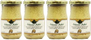 Edmond Fallot Mustard 4 Pack of Walnut Dijon (7 Ounces per Bottle)