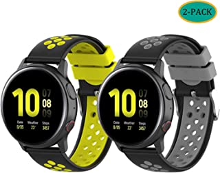 Fit for Samsung Galaxy Watch Active 2 40mm/ 44mm Watch Bands, Polar Ignite 20mm Silicone Quick Release Replacement Band Straps Wristbands Fit for Garmin VivoActive 3 Music Women Men (Yellow Gray)
