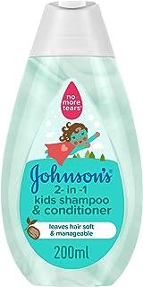 JOHNSON'S 2-in-1 Kids Bath, Shampoo & Conditioner, 200ml