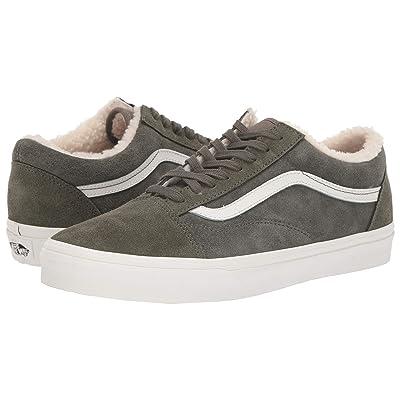 Vans Old Skooltm ((Suede/Sherpa) Grape Leaf/Dusty Olive) Skate Shoes