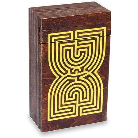Logica Juegos Art. Cofre Laberinto - Rompecabezas de Madera - Caja Secreta - Dificultad 5/6 Increíble - Colección Leonardo da Vinci