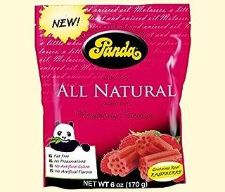 Panda Licorice, All Natural Raspberry Licorice, 7 oz (200 g) -- 2PC