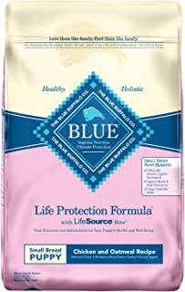 Blue Buffalo Life Protection Formula Small Breed Puppy Dog Food – Natural Dry Dog Food for Puppies – Chicken and Oatmeal – 15 lb. Bag