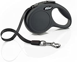 Flexi New Classic Retractable Dog Leash (Tape), 10 ft, Extra Small, Black