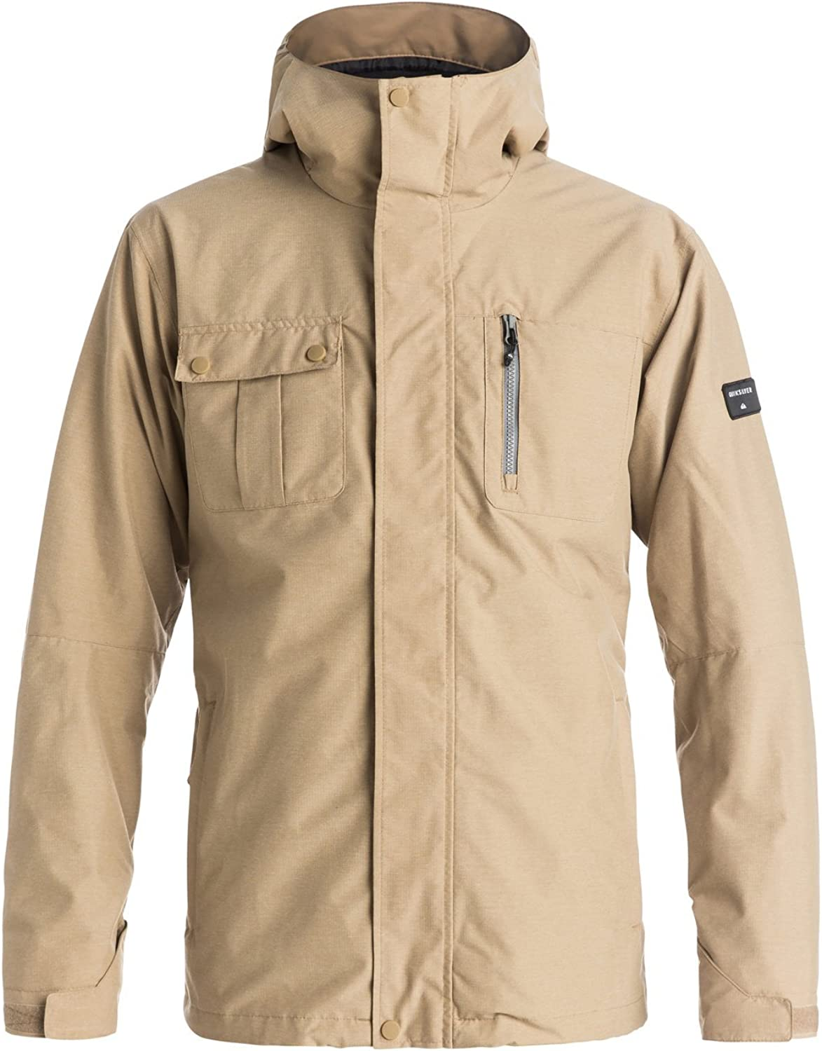 Quiksilver Men's Mission Award 3 in Weekly update 1 Jacket with Bonded Ski Snowboard