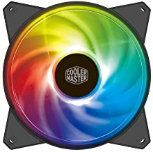 Cooler Master MasterFan MF120R ARGB 120mm, PWM Control Fan w/Hybrid Airflow Blade, Absorbing Rubber Pads for Computer Case, CPU Liquid and Air Cooler