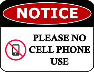 Top Shelf Novelties Notice Please No Cell Phone Use Laminated Business Office Sign sp70