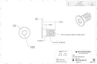 100 Pcs M1.2-0.25 X 2mm Machine Screw Nickel Plated Steel Ultra Thin Head Phillips Drive M12-20-M-N-UT