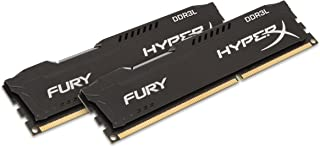 HyperX Kingston Technology Fury Black 16GB Kit (2 x 8GB) 1600MHz DDR3L Desktop Memory HX316LC10FBK2/16