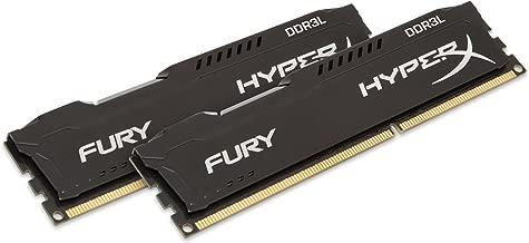 HyperX Kingston Technology Fury Black 16GB Kit (2 x 8GB) 1600MHz DDR3L Desktop Memory HX316LC10FBK2/16