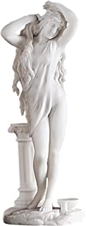 Design Toscano Aphrodite Greek Goddess of Love Figurine Statue, 11 Inch, Bonded Marble Polyresin, White