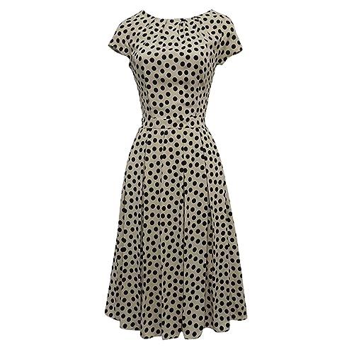 ae091368f0d03 Viva-la-Rosa New Ladies Polka Dot WWII 1930 s 40 s VTG Style Land
