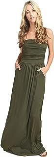 Vanilla Bay Women's Strapless Full Length Maxi Dress with Pockets