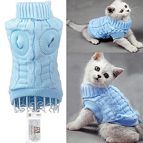 1d819941843 Bolbove Bro Bear Cable Knit Turtleneck Sweater for Small Dogs   Cats  Knitwear