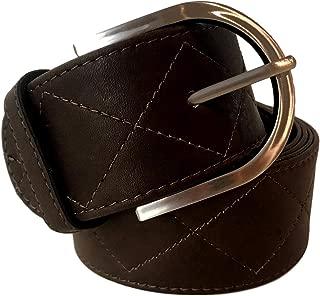 Tailored Sportsman Belt Dark Brown Leather Diamond Print