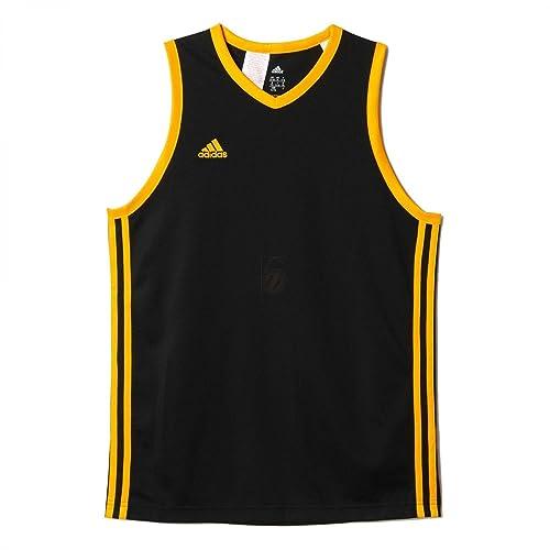 Adidas Y Commander J - Camiseta para niño, Color Negro/Amarillo, Talla 176