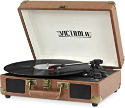 Best victrola bluetooth suitcase record player with three speed turntable Reviews