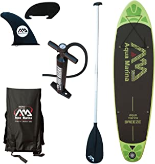 Aqua Marina Breeze 9' Stand Up Paddle Board Inflatable SUP, Green