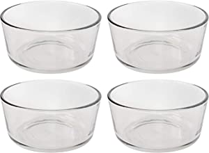 Pyrex Simply Store 7201 Round Clear Glass Storage Container - 4 Pack