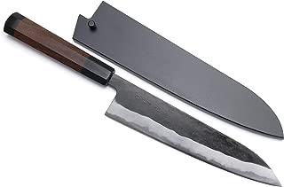 Yoshihiro Mizu Yaki Aogami Super Blue High Carbon Steel Kurouchi Gyuto Chef's Knife (8.25'' (210mm) & Saya)