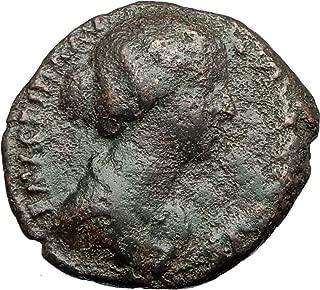 156 IT FAUSTINA II Jr Marcus Aurelius Wife Ancient 156AD coin Good