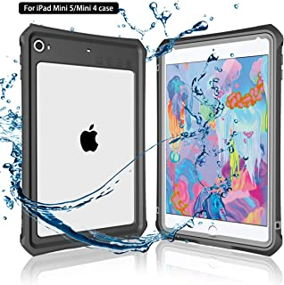 iPad Mini 5 Case, MOMOTS iPad Mini 5 IP 68 Level Full-Body Protective with Built-in Screen Protector Anti Scratch Shockproof iPad Mini 5/iPad Mini 4 Case (Black)