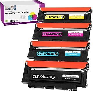 Limeink 4 Compatible Toner Cartridges Replacement for Samsung 404s 404 CLT-K404S CLT-C404S CLT-M404S CLT-Y404S Express Xpr...