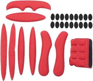 BraveWind 8 almohadillas para la barbilla para casco de bicicleta correa para la barbilla. esponjas motocicleta