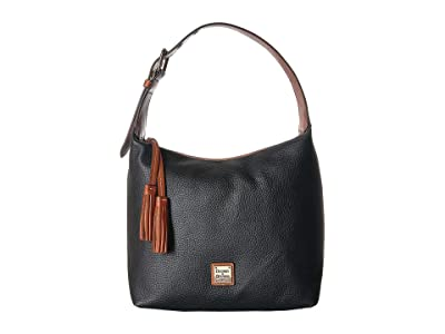 Dooney & Bourke Pebble Paige Sac (Black/Tan Trim) Handbags