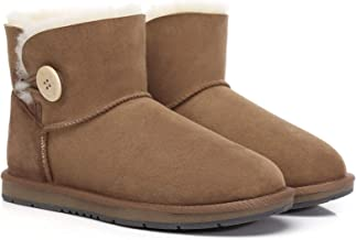 UGG Boots Australia Premium Double Face Sheepskin Mini Button Water Resistant Winter Womens Shoes