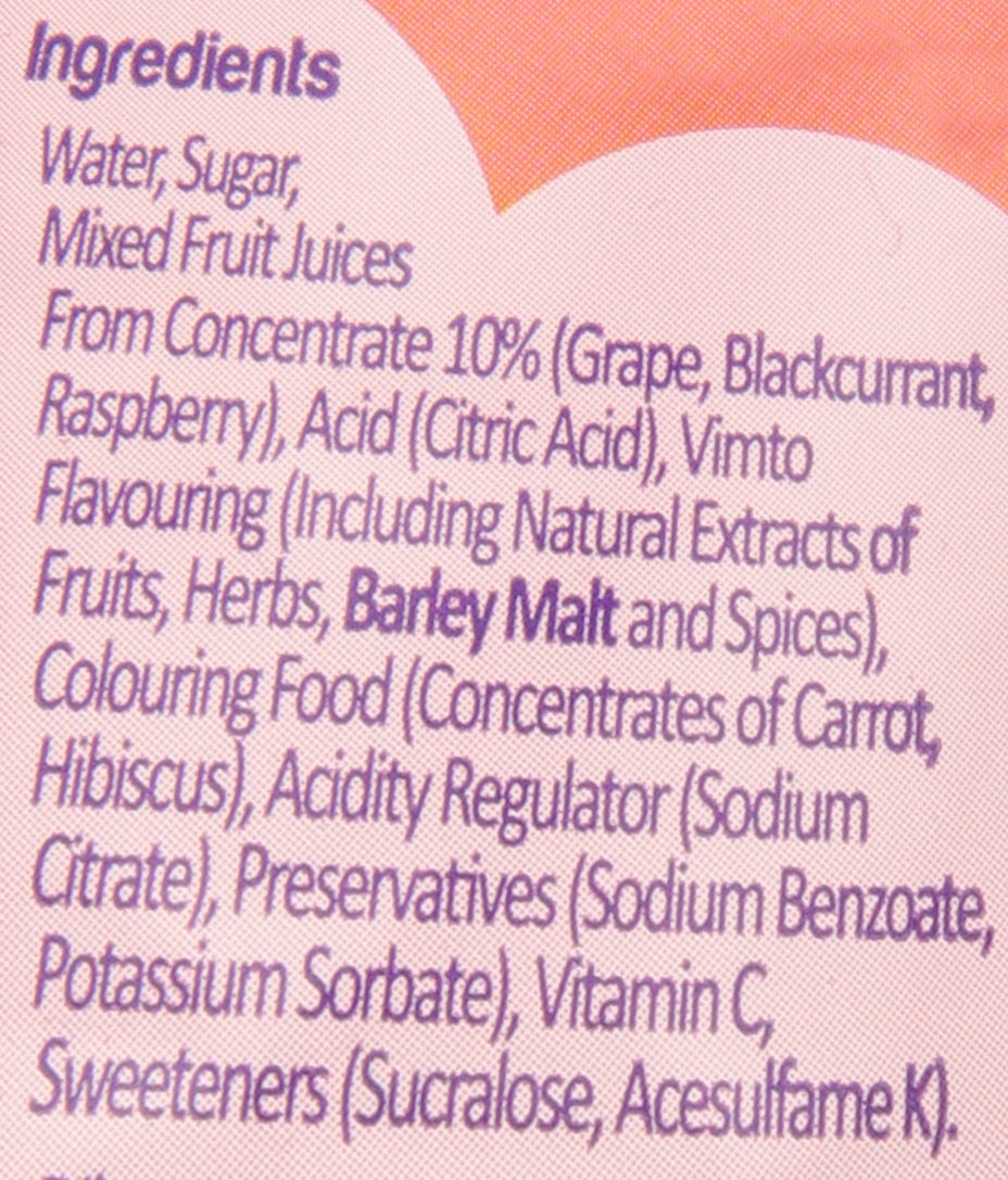 Vimto Blackcurrant Drink England, 23.6 Ounce Plastic Bottle