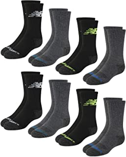 Boys' Cushioned Crew Socks with Reinforced Heel and Toe...