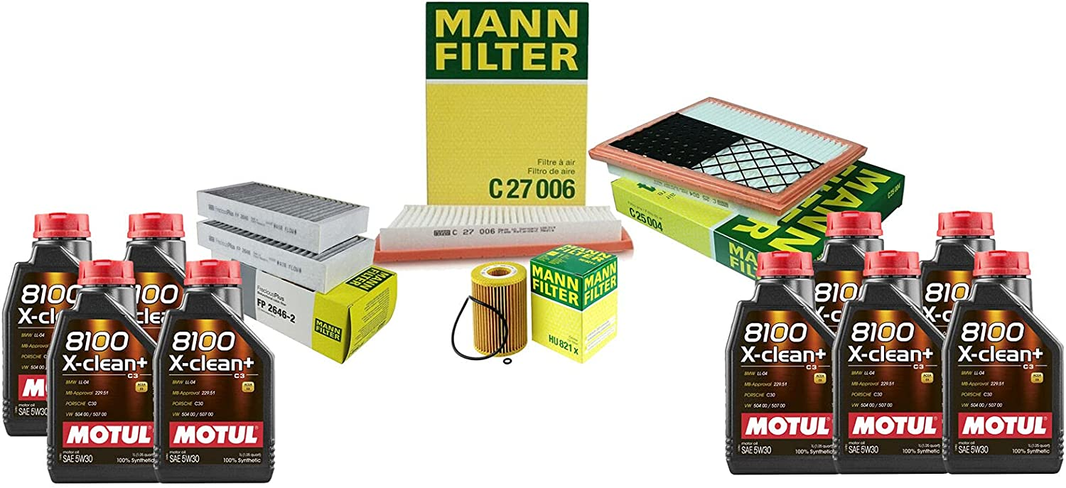Price reduction 9L 8100 X-CLEAN 5W30 Oil Filter X164 Compatible Service kit with Outstanding