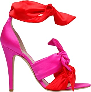 GIA COUTURE Women's KATIAA314REDFUCHSIA Multicolor Fabric Heels