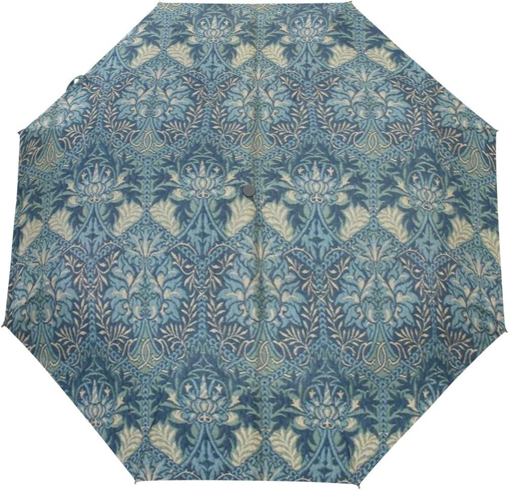 JSTEL Retor Prints Windproof UV Umbrellas favorite 3 Close Open Super sale period limited Fold Auto