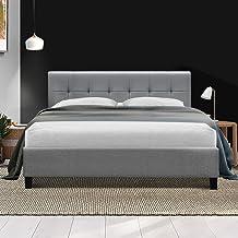 Artiss SOHO Queen Bed Frame Fabric Grey