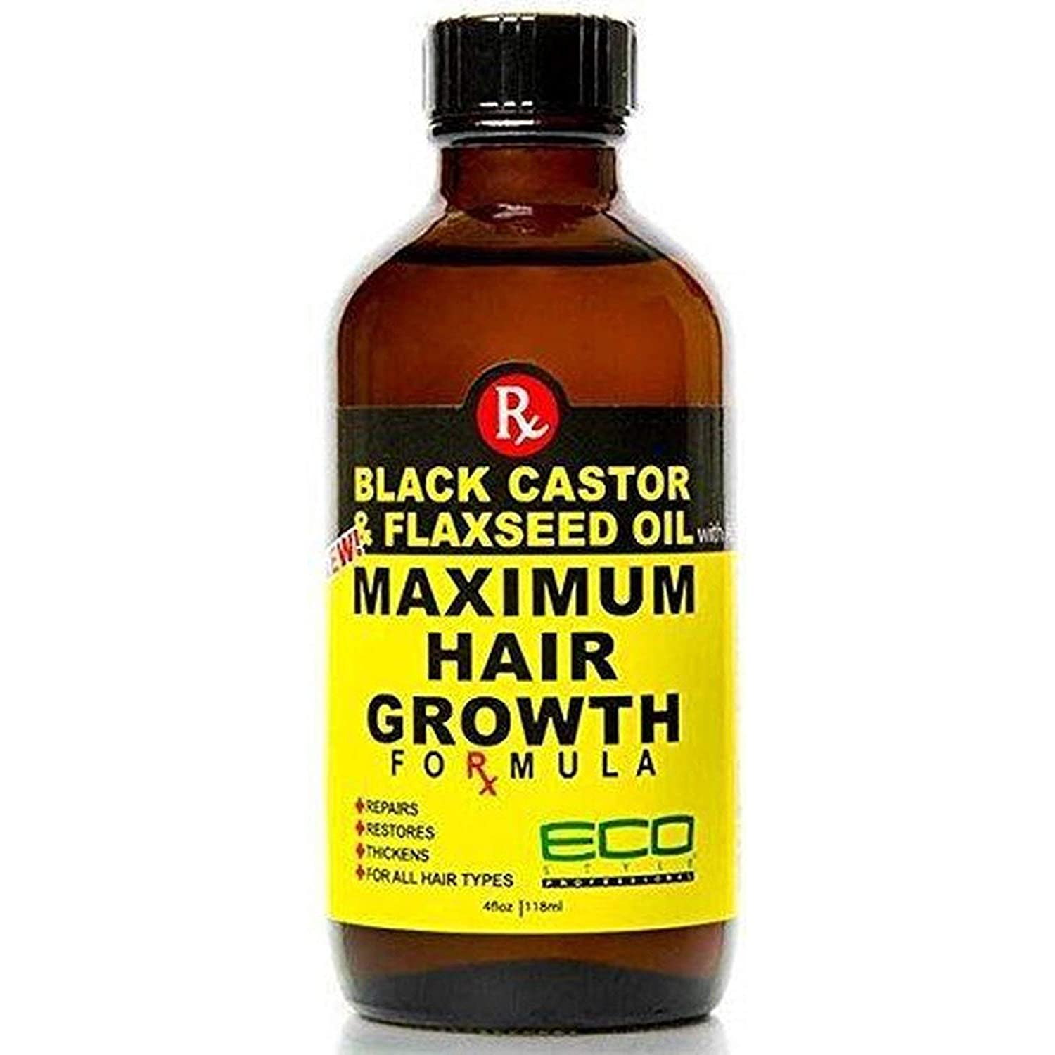 Ecoco Eco Style Black New sales Castor Oil Maximum Gro Free shipping Flaxseed Hair