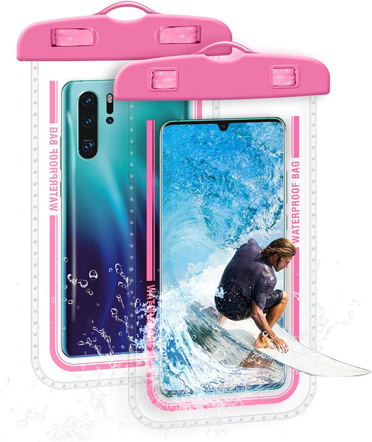 Mona43Henry Universal Waterproof Phone Bag, 7 Inches Waterproof Phone Pouch, Full-Screen Transparent Touch Sensitive Cellphone Dry Bag, Super Tightness Underwater Case Amicable