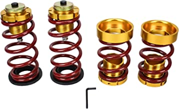 Rev9 Lowering Spring with Hi-Low Sleeve Kit, Red and Gold, Set of 4, Lowers 1-3 Inch (2006-11 Civic)