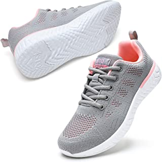 STQ Walking Shoes for Women Casual Lace Up Lightweight Tennis Running Shoes