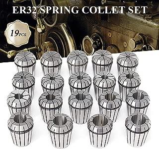dezirZJjx ER32 Collet Set,19Pcs Spring Collets for CNC Milling Lathe Tool Engraving Machine,2-20mm