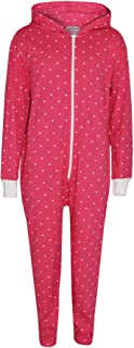 Kid Girls Polka Dot Cotton A2Z Onesie One Piece Pink Hooded Jumpsuits 2-13 Years